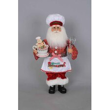 Christmas Kitchen Santa Figurine