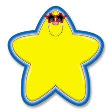 """Star Cutouts, 5-1/4""""x5-1/4"""", 36 Pieces, Yellow/Blue (Set of 2)"""