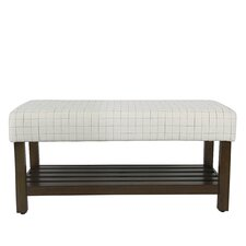 Perry Windowpane Decorative Upholstered Bedroom Bench by Gracie Oaks