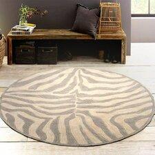 Fashion Taupe/Sliver Zebra Area Rug