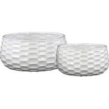 2-Piece Ceramic Pot Planter Set