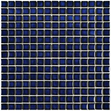 "Morgan .75"" x .75"" Porcelain Mosaic Floor and Wall Tile in Cobalt"
