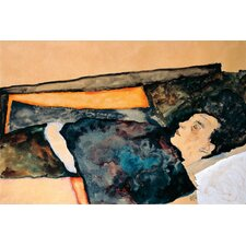 'Artist's Mother Sleeping' Print on Canvas