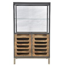 Durham Teak/Iron 12 Drawer Counter/Showcase