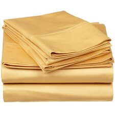 Long-Staple Combed 530 Thread Count Premium Cotton Solid Sheet Set