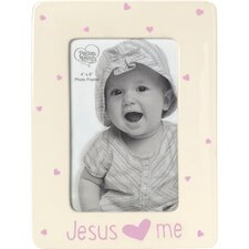 Baby Gifts Jesus Loves Me Ceramic Girl Picture Frame