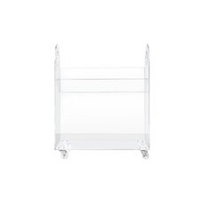 "Presto Acrylic 26"" Bookcase and Cart"