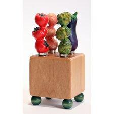 5 Pieces Vegetable Mini Block & Spreader Set
