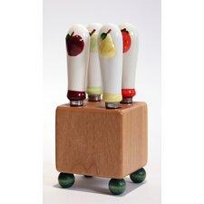 5 Pieces Fruit Mini Block & Spreader Set