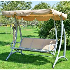 3 Seater Canopy Metal Swing Seat with Stand