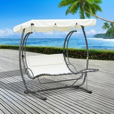 2 Person Canopy Rocking Swing Seat with Stand