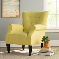 Delia Button Back Arm Chair by Alcott Hill®