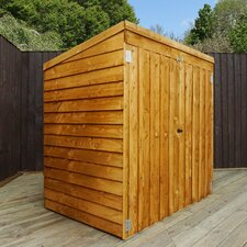 5 Ft. W x 3 Ft. D Wooden Overlap Storage Shed