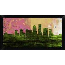 Louisville City Skyline' Framed Graphic Art Print on Canvas by Naxart