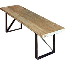 Reclaimed Wood/Iron Dining Bench