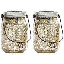 2-tlg. Solarleuchten-Set Fireflies