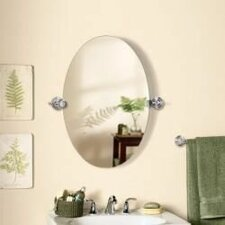 Edge Oval Swivel Bathroom/Vanity Wall Mirror