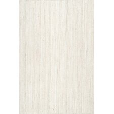 Burrillville Hand-Woven Off-White Area Rug