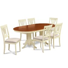 Inwood 7 Piece Rubber Wood Dining Set by Darby Home Co