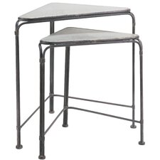 Rhea Wedge 2 Piece Nesting Tables Set by Williston Forge