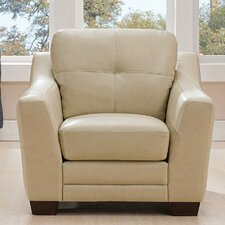 Tiffaney Leather Club Chair by Latitude Run