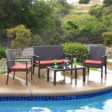 Breen 4 Piece Deep Seating Group with Cushions