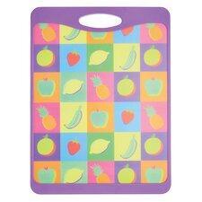 Plastic Fruit Design Cut & Serve Reversible Board