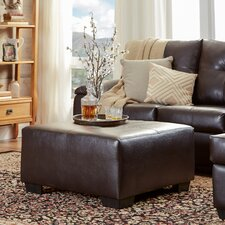 Camden Leather Ottoman by Three Posts