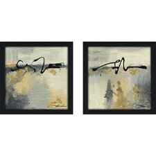 Lyrical II' 2 Piece Framed Acrylic Painting Print Set on Canvas by George Oliver