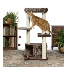 """43"""" Kitty Power Paws Leopard Lounge Cat Tree"""