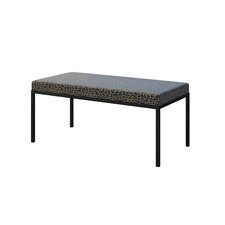 Ahumada Upholstered Steel Base Bedroom Bench by Everly Quinn