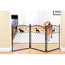 Freestanding Metal Dog Gate