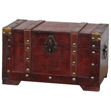 Beecham Antique Style Wooden Small Trunk by Astoria Grand