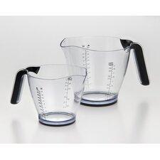 2-Piece Plastic Measuring Cup Set