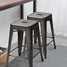 Shannon 24 Bar Stool (Set of 4) by 17 Stories