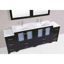 Lyn Modern 84 Double Bathroom Vanity Set by Latitude Run