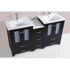 Lyn Modern 60 Double Bathroom Vanity Set by Latitude Run