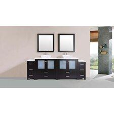 Lyn Modern 96 Double Bathroom Vanity Set with Mirror by Latitude Run