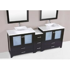 Lyn Modern 84 Double Bathroom Vanity Set by Latitude Run