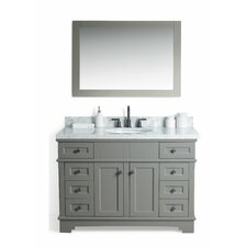 Parkman Solid Wood 49 Single Bathroom Vanity Set with Mirror by Red Barrel Studio