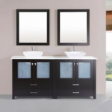 Lyn Modern 71 Double Bathroom Vanity Set with Mirror by Latitude Run