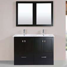 Luci Modern 48 Double Bathroom Vanity Set with Mirror by Latitude Run