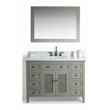Parkman Solid Wood 49 Single Bathroom Vanity Set with Mirror by Red Barrel Studio