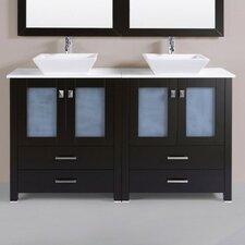 Lyn Modern 60 Double Modern Bathroom Vanity Set with Mirror by Latitude Run