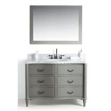 Filomena Solid Wood 49 Single Bathroom Vanity Set with Mirror by August Grove