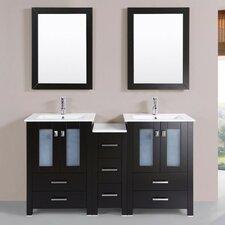Lyn Modern 60 Double Bathroom Vanity Set with Mirror by Latitude Run