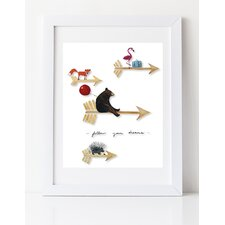 Dream a Little Dream 'Follow Your Dreams' by Liz Clay Framed Painting Print