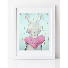 Dream a Little Dream 'Some Bunny Loves You' by Liz Clay Framed Painting Print