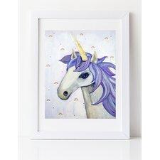 Dream a Little Dream 'Unicorn' by Liz Clay Framed Painting Print