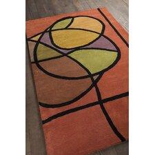 Bense Garza Orange/Brown Area Rug